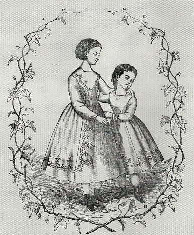 1865 to 1875Early Bustle Dress for girls