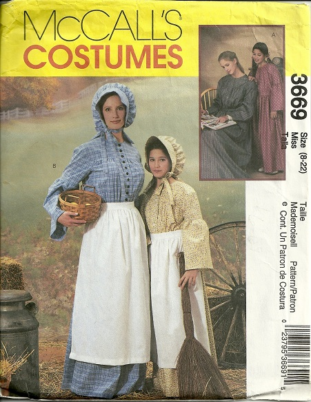 McCall's Costumes Pattern 3669