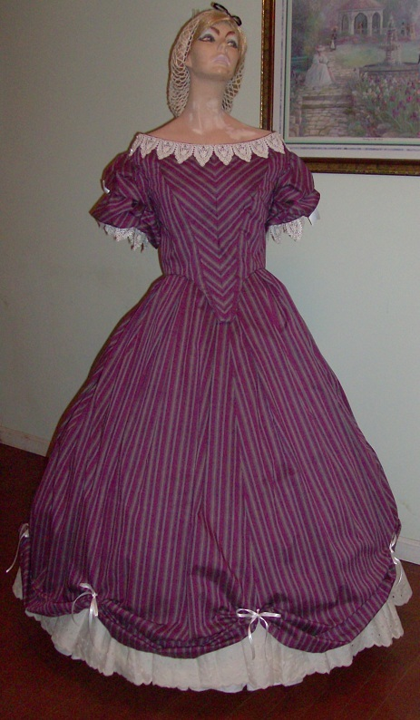 1860 or Civil War Era Ball Gown
