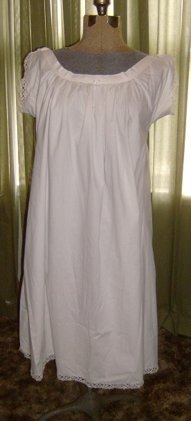 Civil War Reenactment Ladies Cotton Muslin Chemise