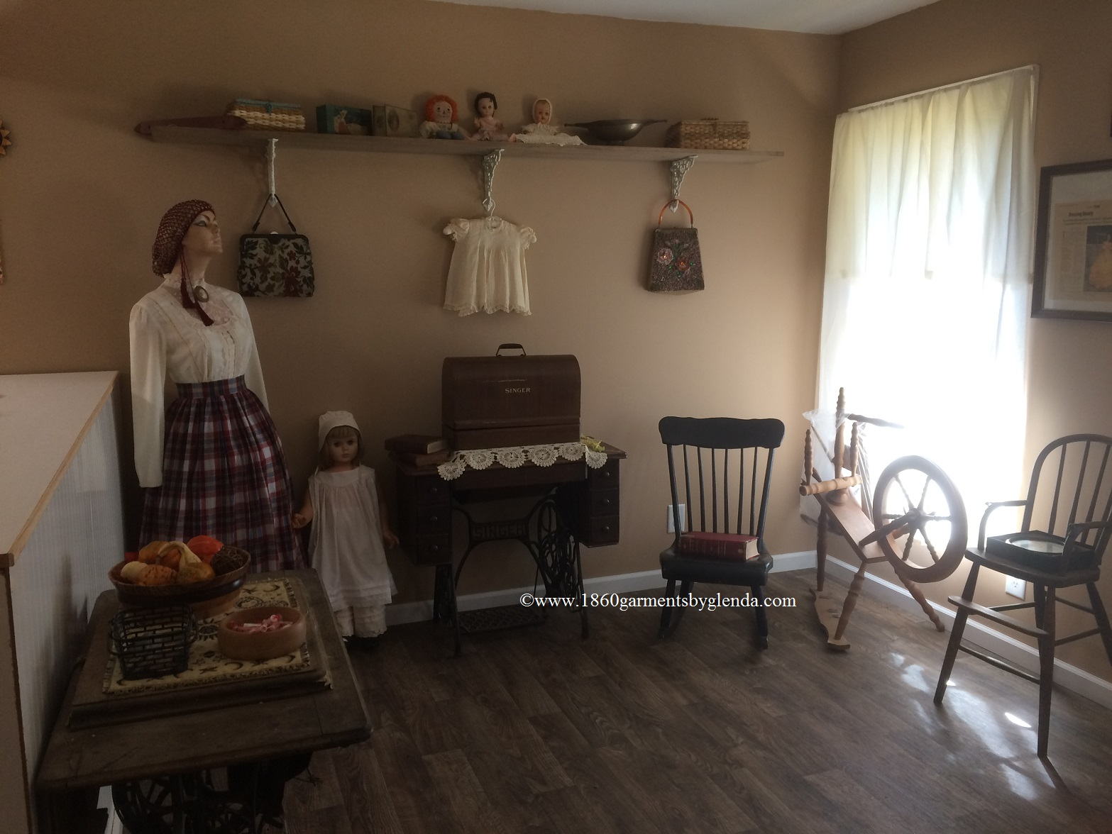 1860 Garments By Glenda, Signal Mountain, Tennessee, my shop.