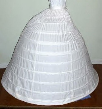 Elliptical hoop slips or crinoline custom made to order, using the pattern Simplicity 9764.