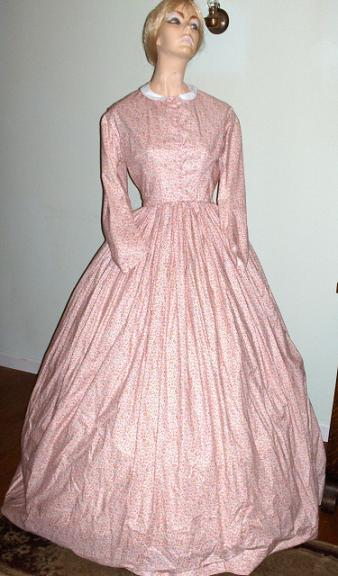 Pink Mid 19th Century Day Dress