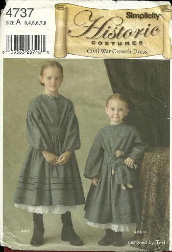 Simplicity 4737 Civil War Growth Dress