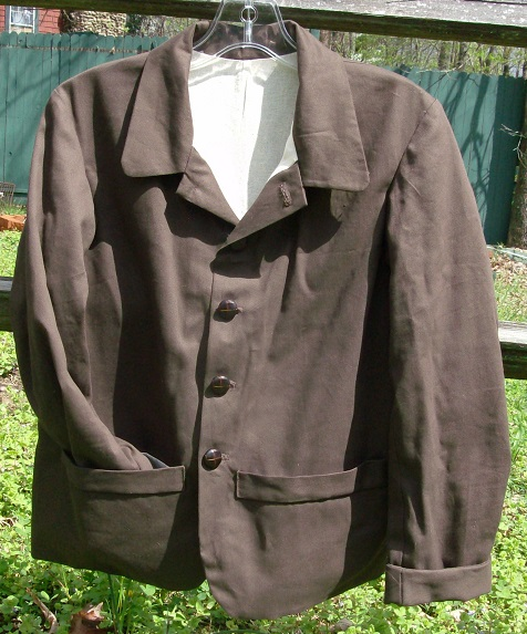 1800's sack coat, civil war era