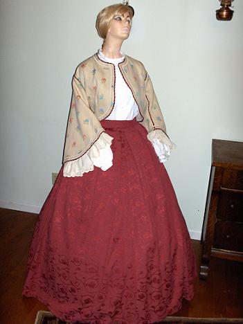 Mid 1800's Ladies dresses and gowns